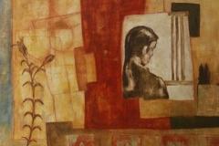 Als ich jung war, Mischtechnik auf Leinwand, 2000, 142 x 144
