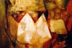 Geheimnis, Mischtechnik auf Leinwand, 2000, 80 x 60