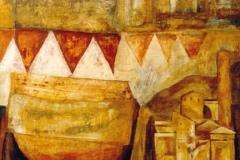 Sehnsucht, Mischtechnik auf Leinwand, 2000, 108 x 100