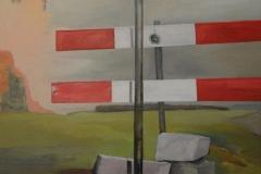 Absperrung, Öl auf Leinwand, 2008, 86 cm x 60 cm