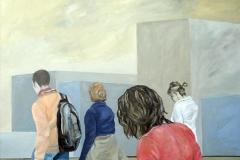 Wanderung, Öl auf MDF, 2009, 120 cm x 100 cm