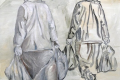 Zwei Frauen, Öl auf Leinwand, 2009, 70 cm x 80 cm