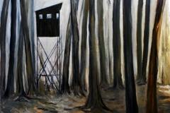 Hochsitz, Öl auf Leinwand, 2009, 120 cm x 100 cm