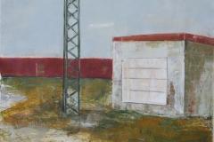 Stromkasten, Acryl auf Papier, 2009, 64 cm x 50 cm