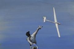 Flieger 5, Acryl auf Papier, 2010, 26 cm x 36 cm