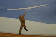 Flieger 4, Öl auf Papier, 2010, 106 cm x 85 cm