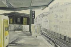 U Bahn Eberswalder 3, Öl auf Leinwand auf MDF, 2010, 50 cm x 60 cm