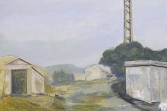 Stromhaus 2, Acryl auf Papier, 2010, 59 cm x 46 cm