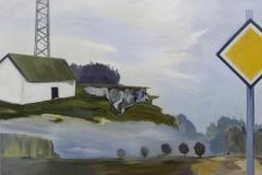 Vorfahrt, Öl auf Leinwand, 2010, 110 x 90 cm