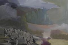landschaft Wolf, Acryl auf Leinwand, 2011, 90 x 80 cm
