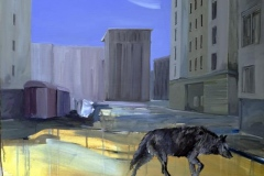Frankfurterallee, Acryl auf Leinwand, 2011, 100 x 90 cm