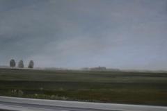 Autobahn A44-I, Öl auf Leinwand, 2011, 120 x 100 cm