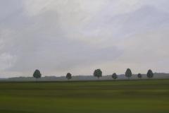 Autobahn A44-VI, Acryl auf Leinwand, 2011, 100 x 90 cm