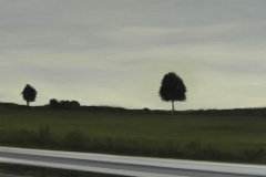 Autobahn A44-XII, Öl auf Leinwand auf MDF, 2012, 50 x 40 cm