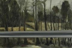 Autobahn A44-XIII, Öl auf Leinwand, 2012, 40 x 30 cm