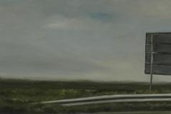 Autobahn A44-XIV, Öl auf Leinwand, 2012, 50 x 40 cm