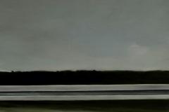 Autobahn A44-XVI, Öl auf Leinwand auf MDF, 2012, 60 x 50 cm