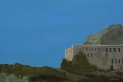 Cefalù-Villa, Acryl auf Leinwand, 90 x 100 cm, 2012