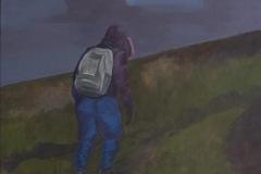 Wanderer, Acryl auf Leinwand, 2012, 100 x 110 cm