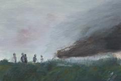 Kinder-Wolke, Acryl auf Leinwand auf MDF, 2015, 32 x 35,5 cm