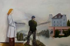 Abschied, Öl auf Leinwand, 2016, 100 x 110 cm