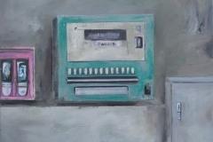 Automaten, Öl auf Leinwand, 2017, 50 x 60 cm