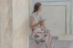 Frau am Fenster, Öl auf Leinwand, 2017, 90 x 80 cm