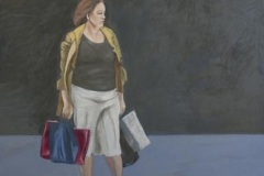 Einkauf, Öl auf Leinwand, 2017, 100 x 90 cm