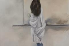 Kleine-Malerin, Öl auf Leinwand, 60 x 50 cm, 2018