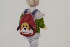 Kleine-Wanderin, Öl auf Leinwand, 60 x 50 cm, 2018