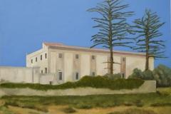Villa-Cefalù, Öl auf Leinwand, 80 x 100 cm, 2018