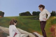 Begegnung Acryl  auf Leinwand 100 x 90 cm 2020
