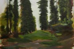Wald_03  Acryl  auf Leinwand 100 x 90 cm  2020